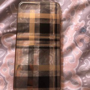 Plaid Black and Gold Iphone 8 plus case